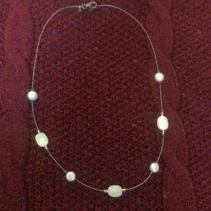 Silpada silver & pearl necklace